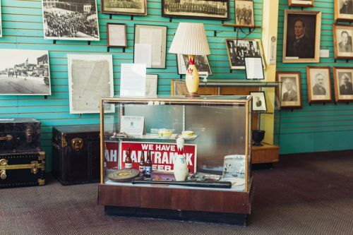 Inside the Hamtramck Historical Museum.